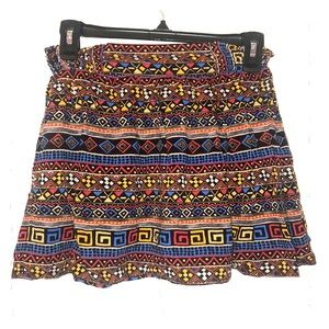Dresses & Skirts - Aztec print mini skirt